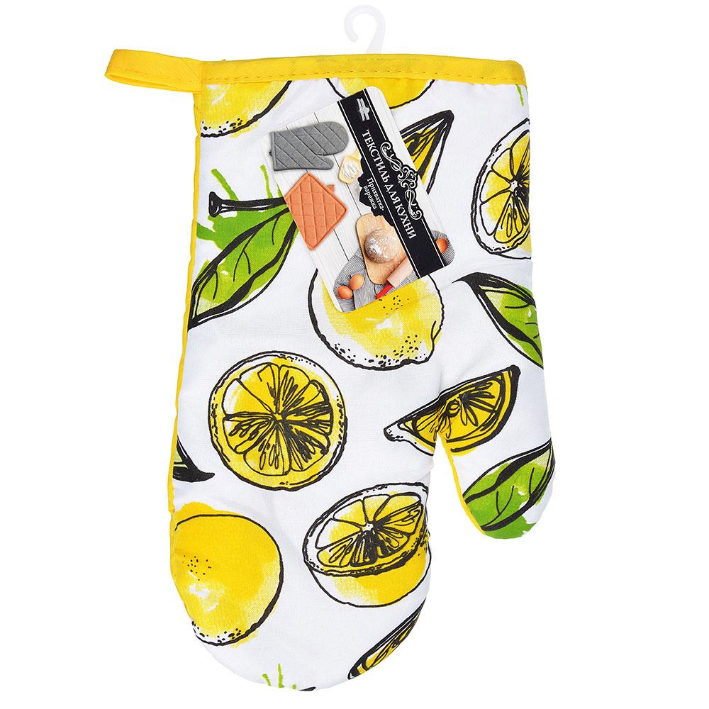 Лимоны Прихватка-варежка, полиэстер, 27см, GC