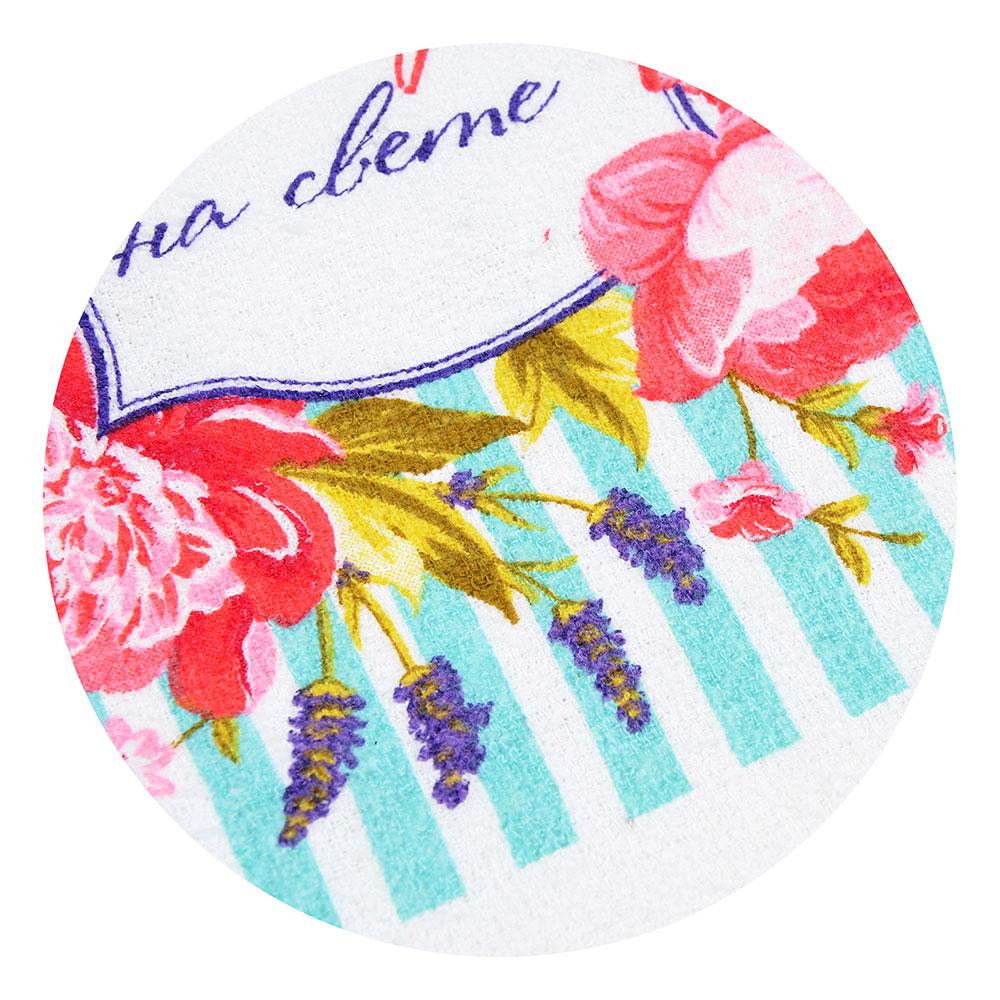 """Кухонное полотенце PROVANCE """"Цветочное настроение"""", 80% хлопок 20% полиэстер, 38х63 см"""