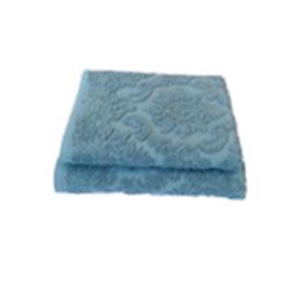 Полотенце махровое жаккард 420гр. 50x90см Ринг 16/1 синий ПГ-11082