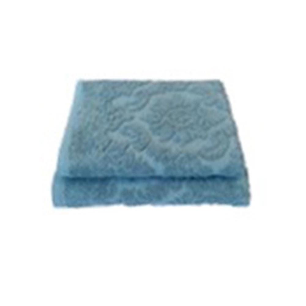 Полотенце махровое жаккард 420гр. 70х130см Ринг 16/1 синий ПГ-11083