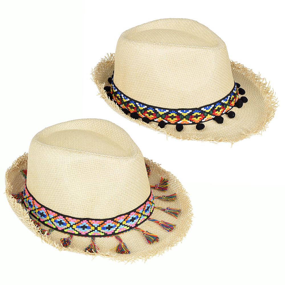 Шляпа молодежная, 35% хлопок, 65% полиэстер, р-р 56-58, 2 дизайна, ШЛ19-26