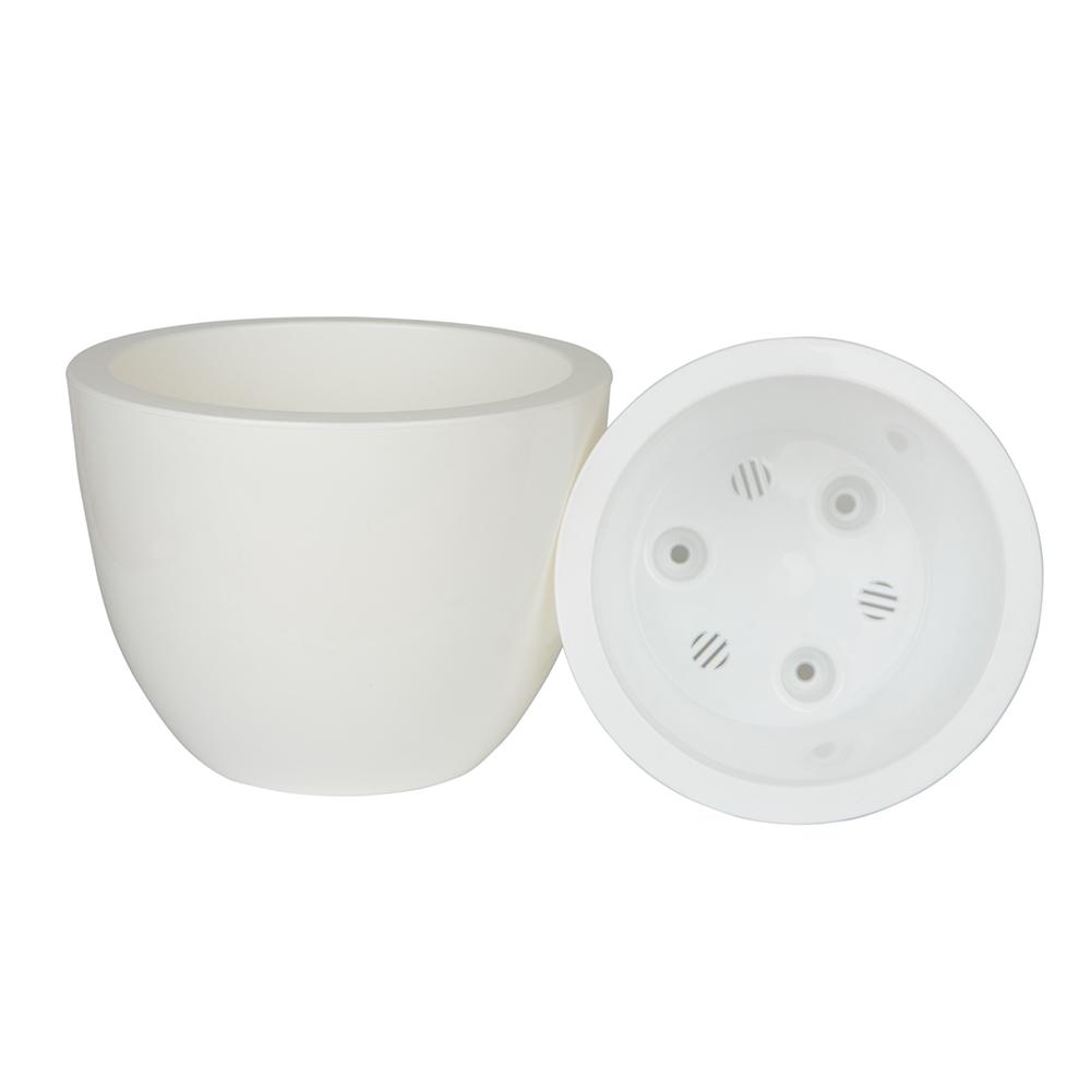 Горшок цветочный с вкладкой Орион 2,3 л, белый, пластик
