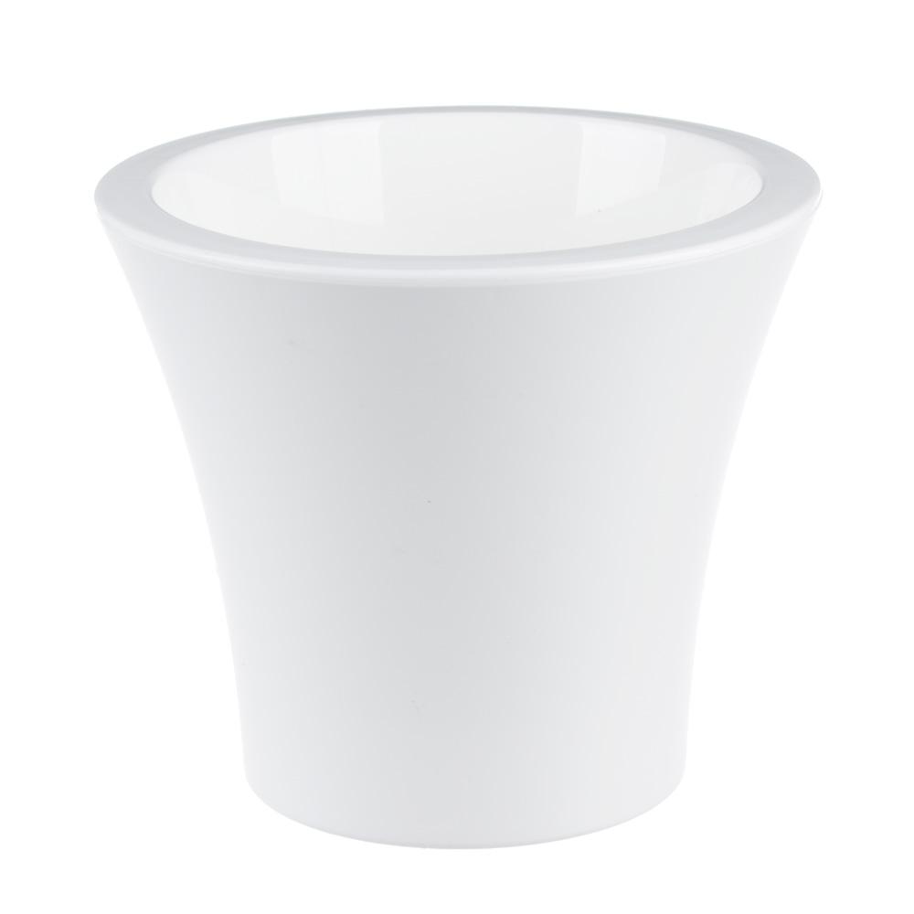 Горшок цветочный с вкладкой, пластик, 1,3 л, белый, Сити