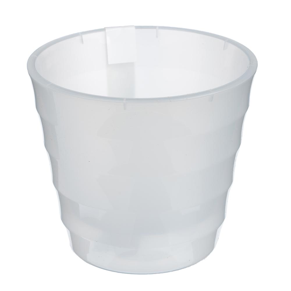 Горшок цветочный с вкладкой, пластик, 1,4 л, прозрачный, Лаура