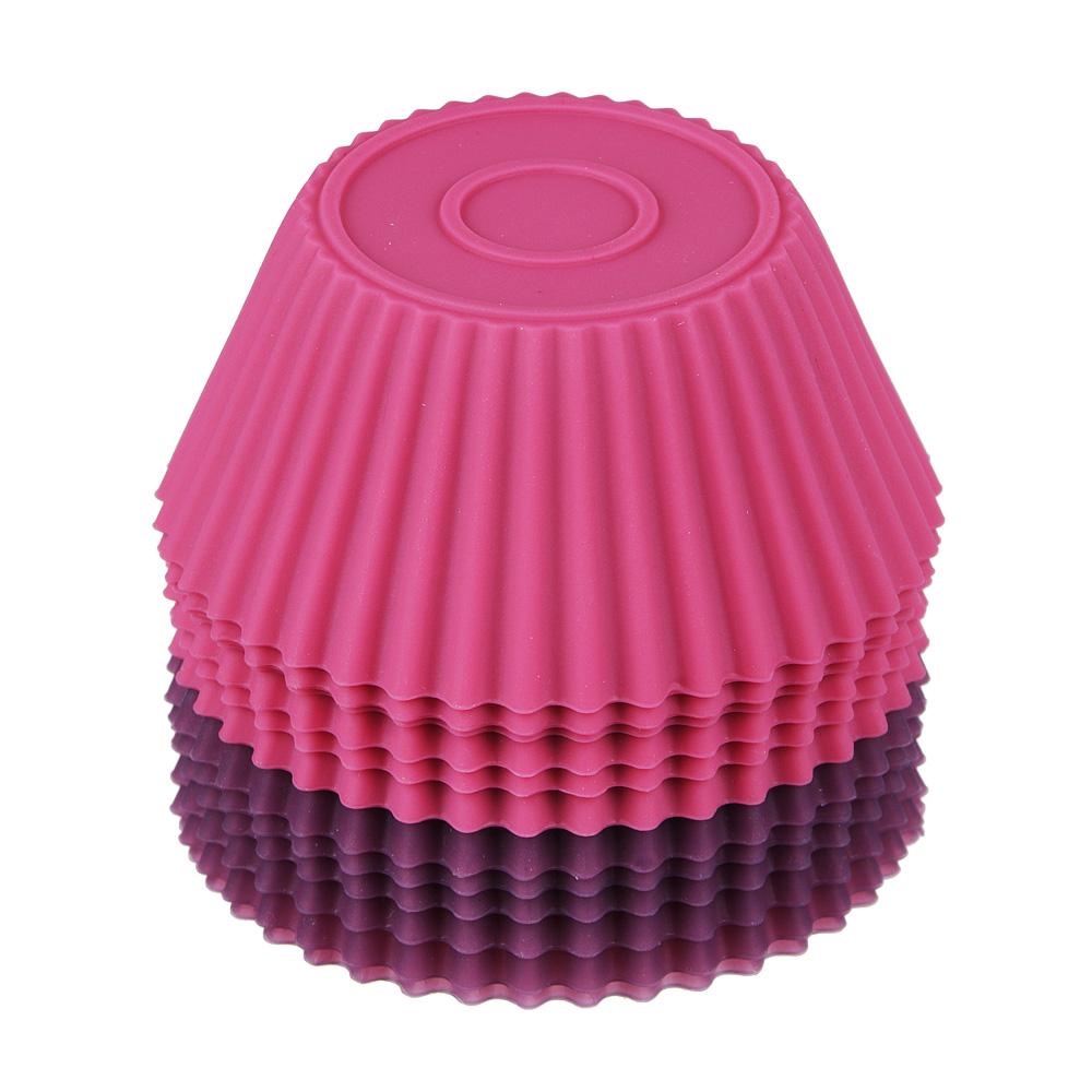 Набор форм для выпечки кексов SATOSHI Алион 6шт, 7x3см, силикон