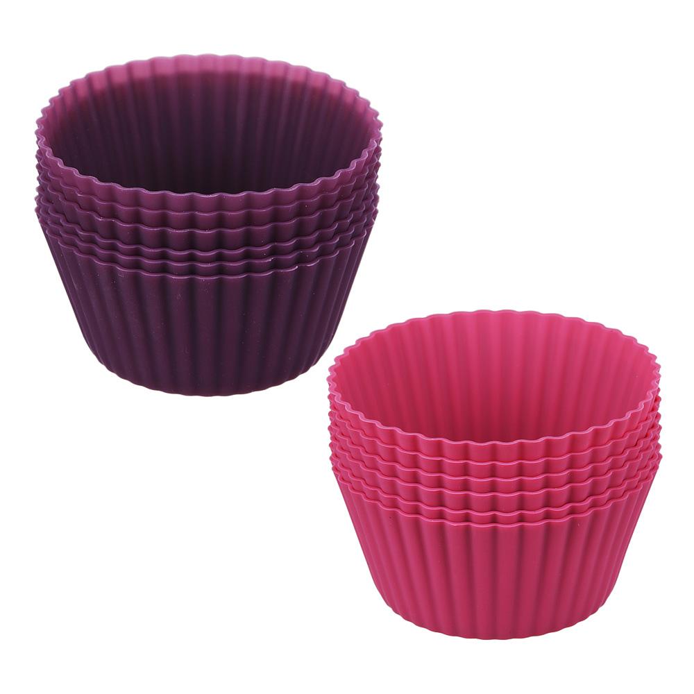 SATOSHI Алион Набор форм для выпечки кексов 6шт, 9,5x4,4см, силикон