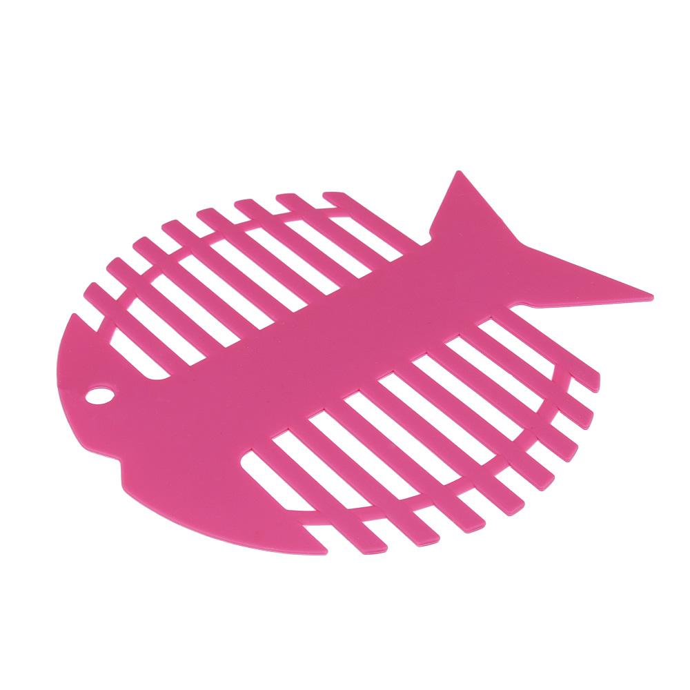 "Подставка под горячее SATOSHI Алион ""Рыба"", 17,5x17,5х1,8см, силикон"