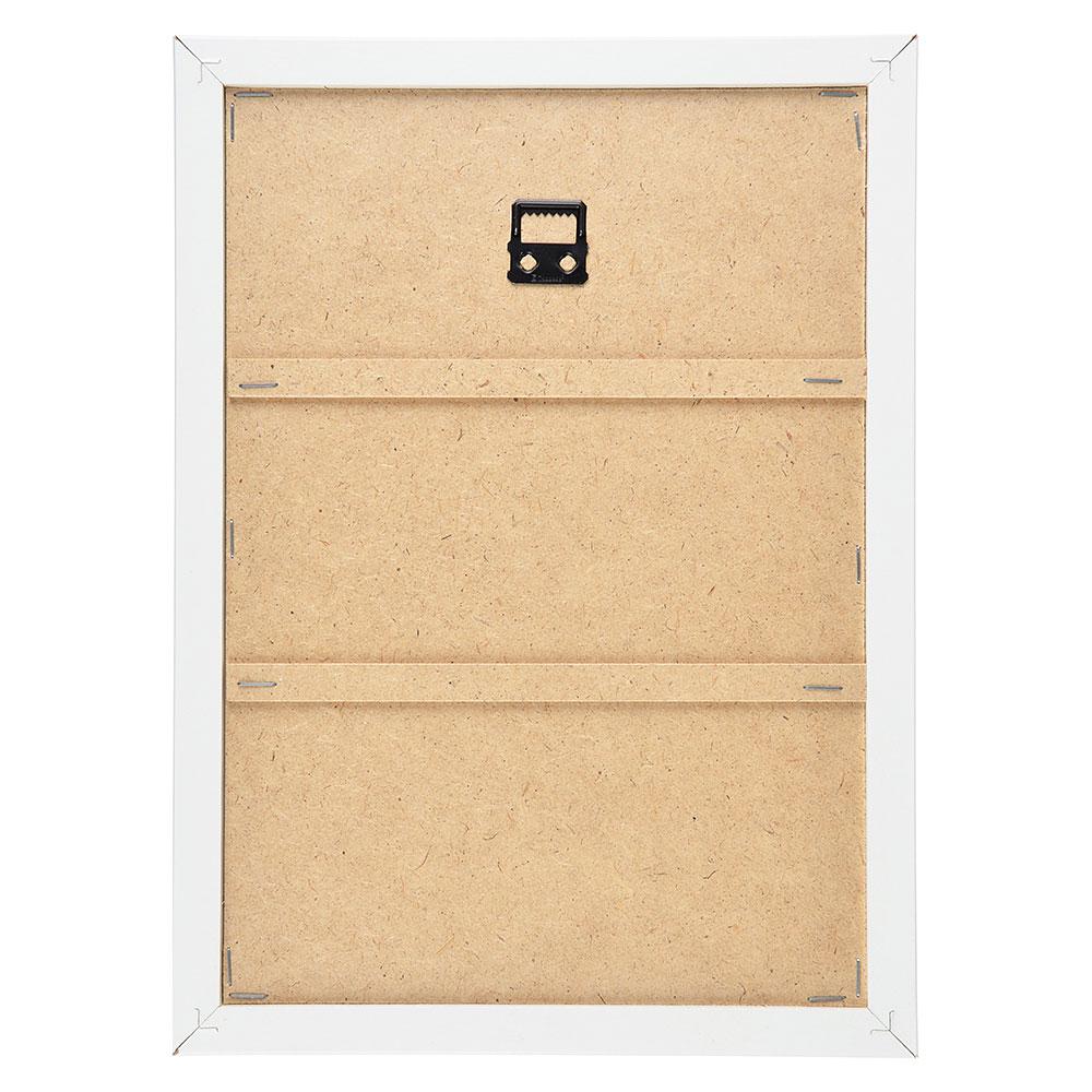 Ключница открытого типа, 5 крючков, МДФ, 33х26х1,5см, 3 дизайна, рамка белая