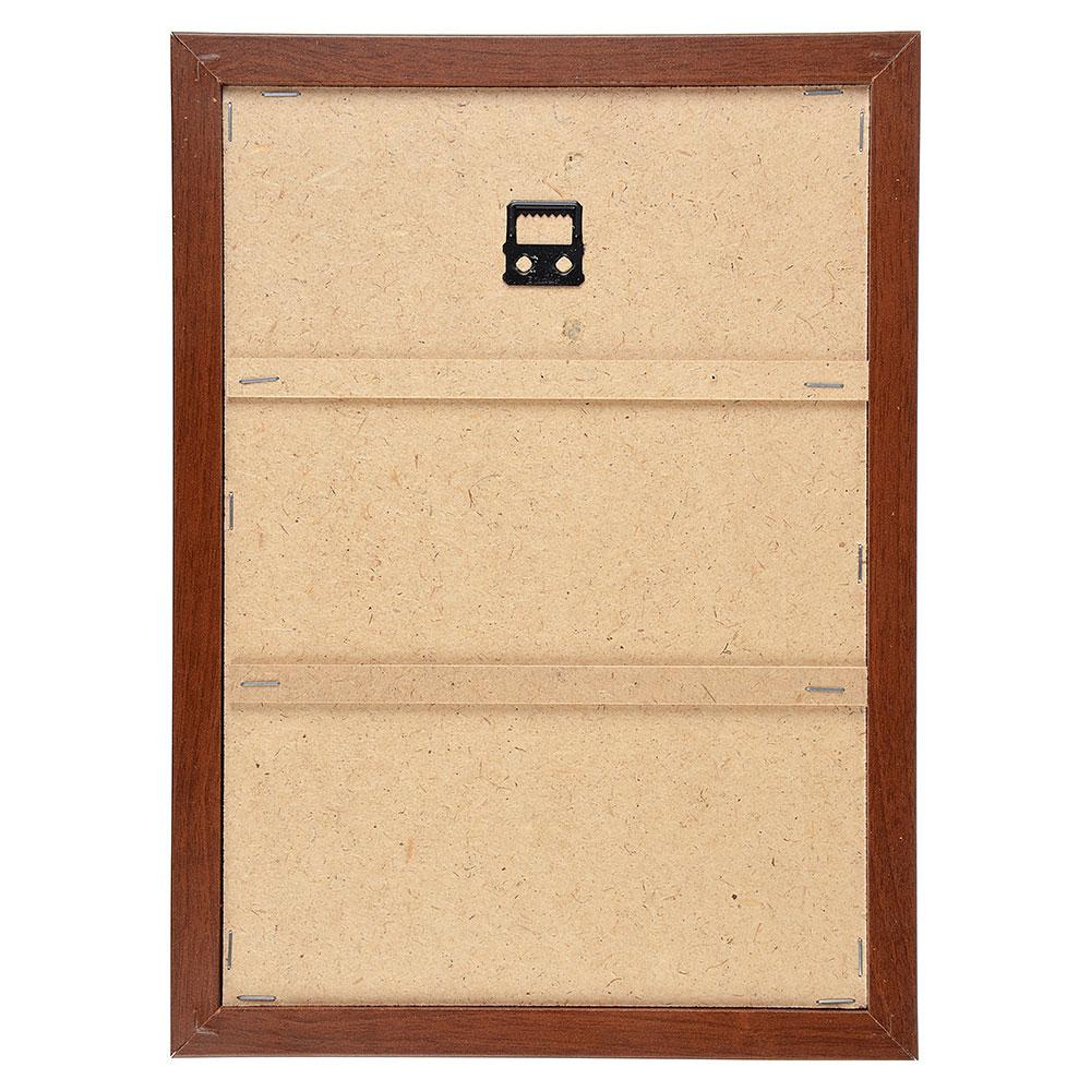 Ключница открытого типа, 5 крючков, МДФ, 33х26х1,5см, 3 дизайна, рамка коричневая