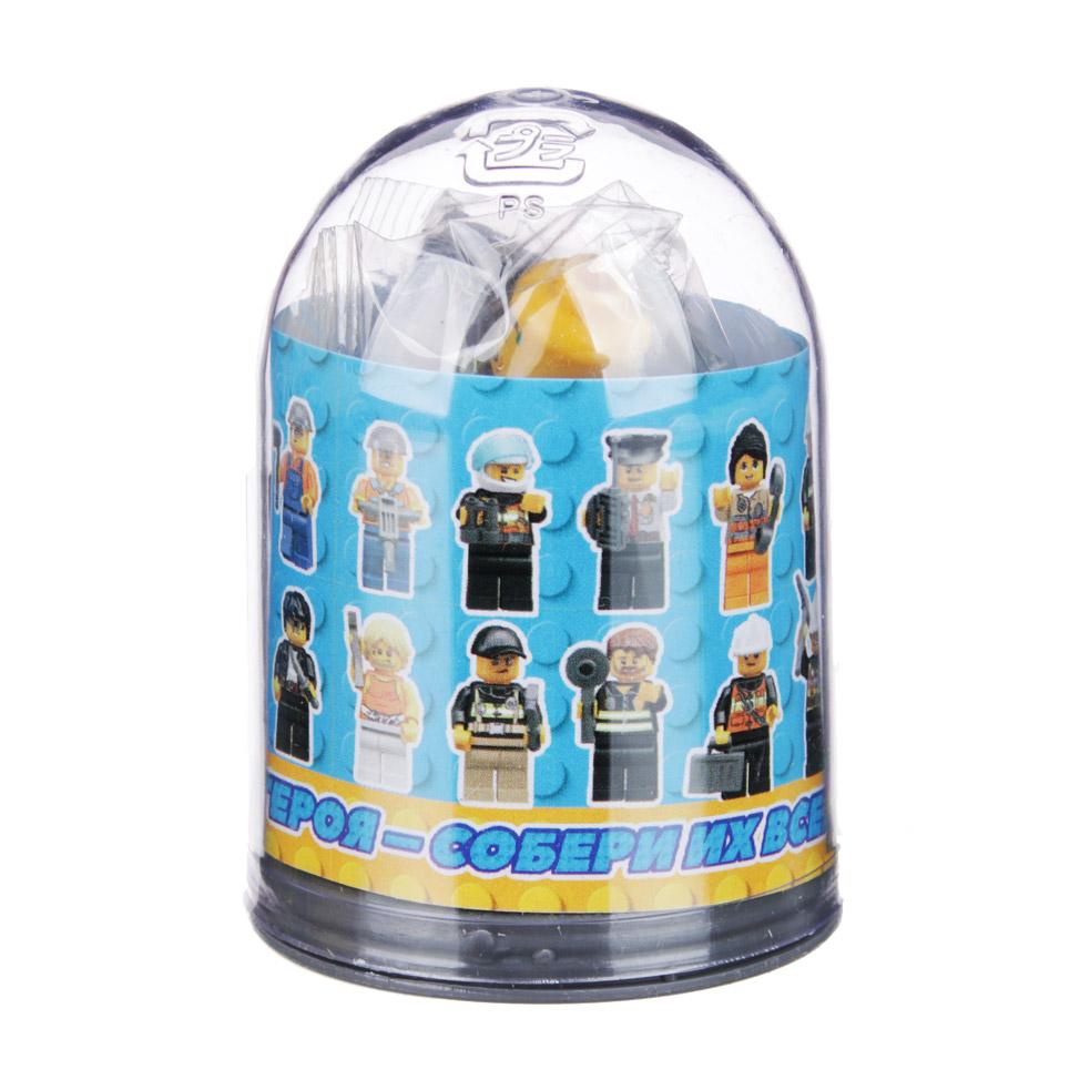 Мини-фигурка в колбе, пластик, 2,5х4х2,5см, 24 дизайна
