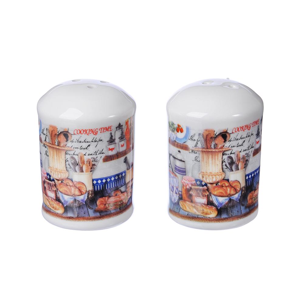 MILLIMI Хлеб Набор для соли и перца, 4x4х7см, керамика