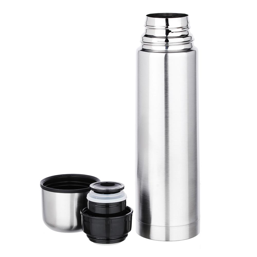 """Термос 0,50л """"Буллет"""" для напитков, серебристый, нержавеющая сталь (без лого)"""