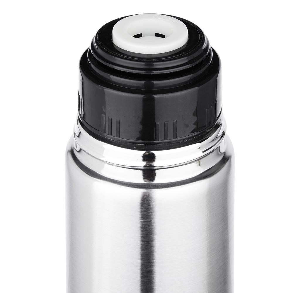 """Термос 1,00л """"Буллет"""" для напитков, серебристый, нержавеющая сталь (без лого)"""