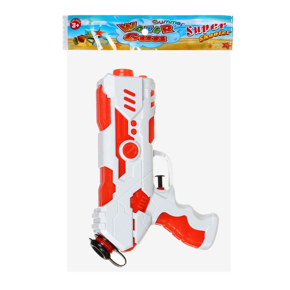 ИГРОЛЕНД Пистолет водный, пластик, 21х12см, 2-4 цвета