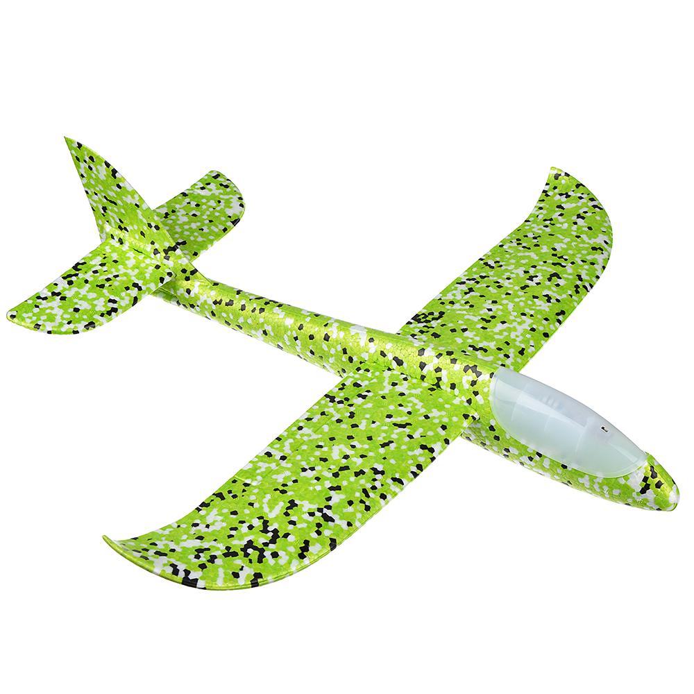 Самолет-планер, свет, полимер, 48х10х48см, 5 цветов