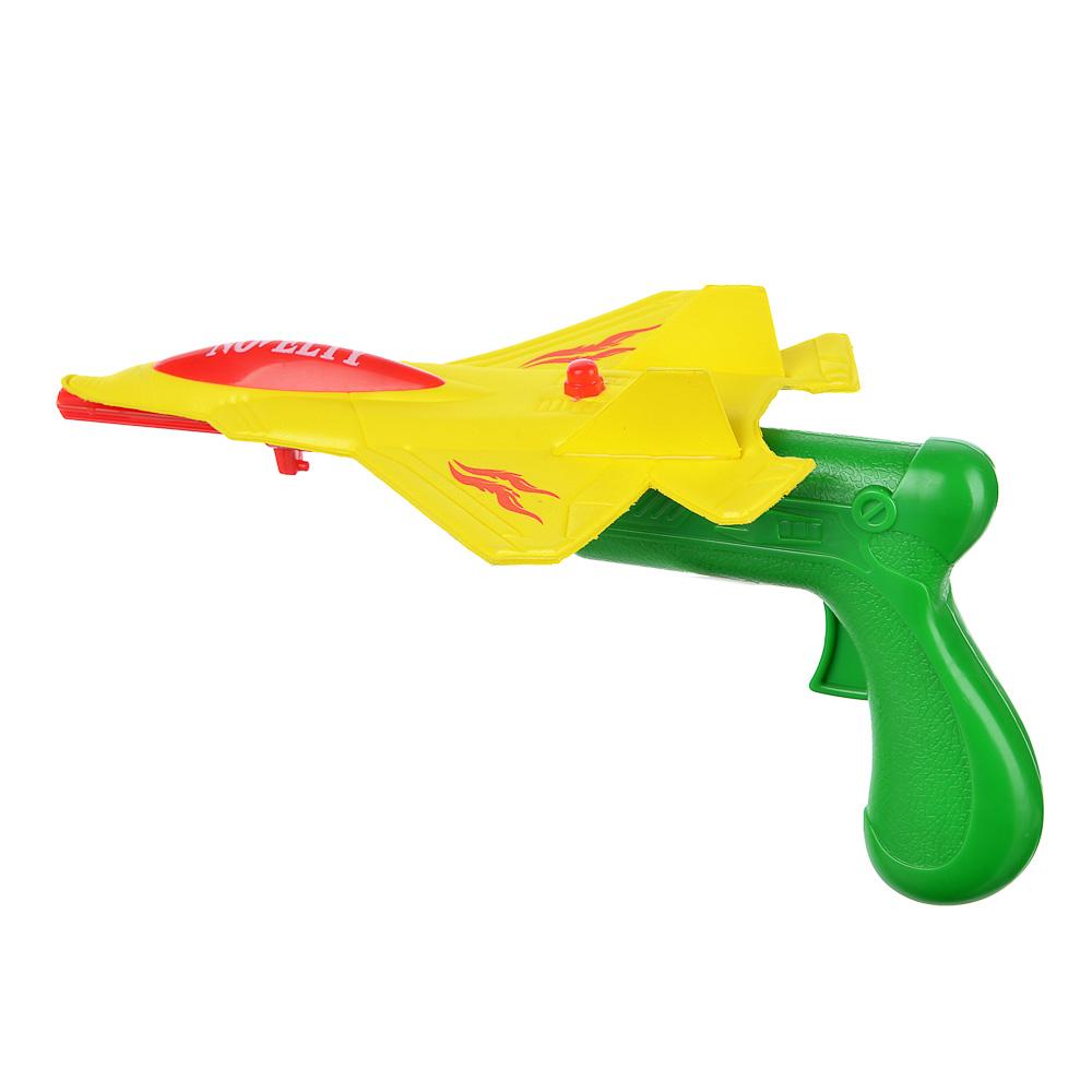 ИГРОЛЕНД Самолет-планер со стартером, пластик,19х4х28см, 2 цвета