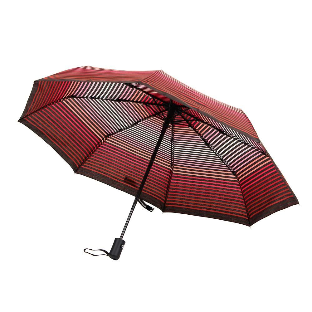 Зонт женский, полуавтомат, сплав, пластик, полиэстер, длина 55см, 8 спиц, 4 дизайна,3117