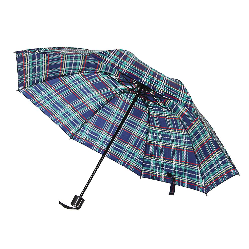 Зонт женский, механика, сплав, пластик, полиэстер, длина 55см, 8 спиц, 6 дизайнов,305Q