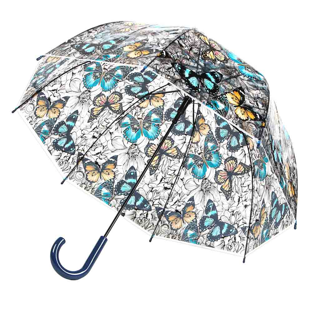 Зонт-трость женский, сплав, пластик, ПВХ, длина 60см, 8 спиц, 4 дизайна,903A