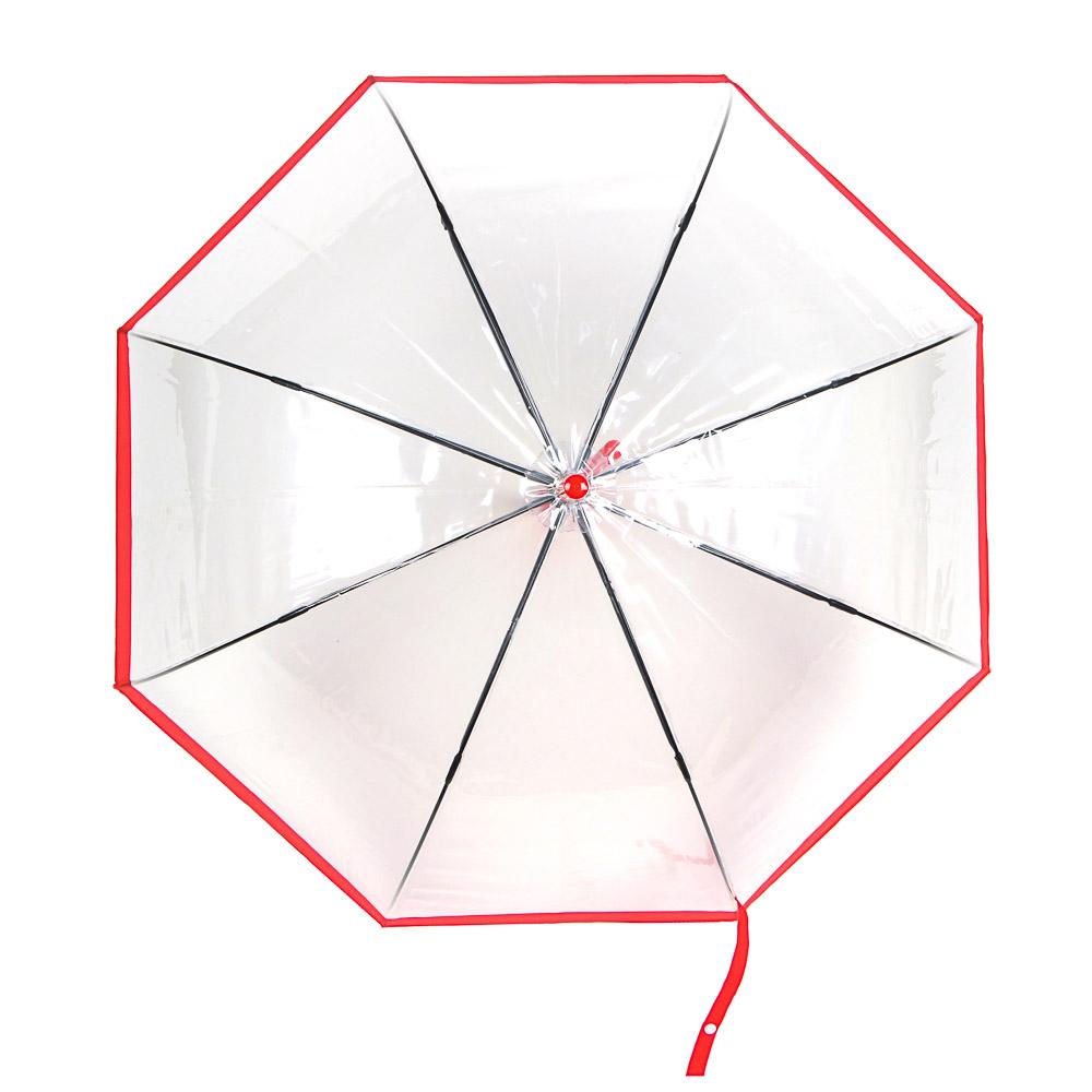 Зонт-трость женский, сплав, пластик, ПВХ, длина 60см, 8 спиц, 4 дизайна,602A