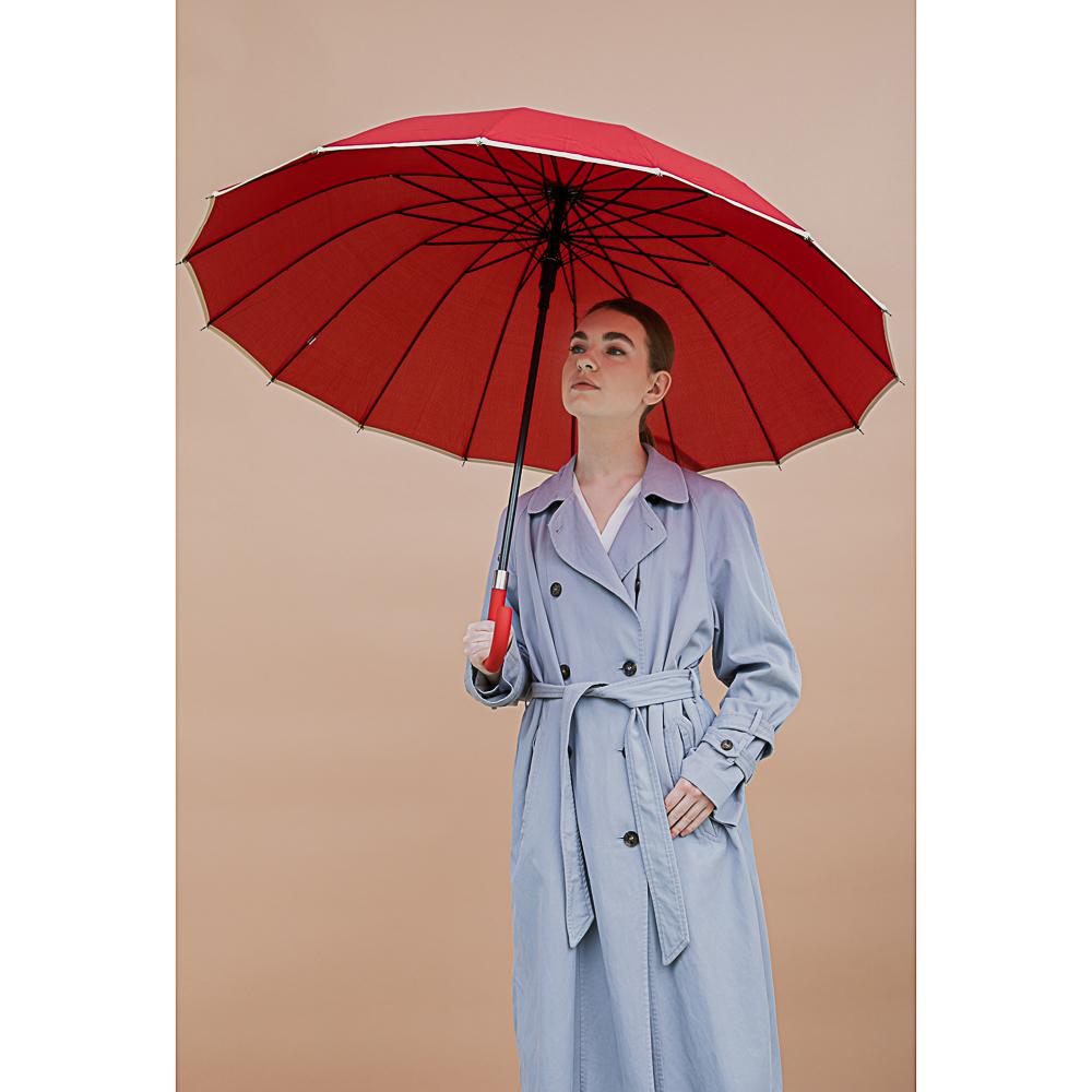 Зонт-трость женский, сплав, пластик, полиэстер, длина 60см, 8 спиц, 4 дизайна, 1271