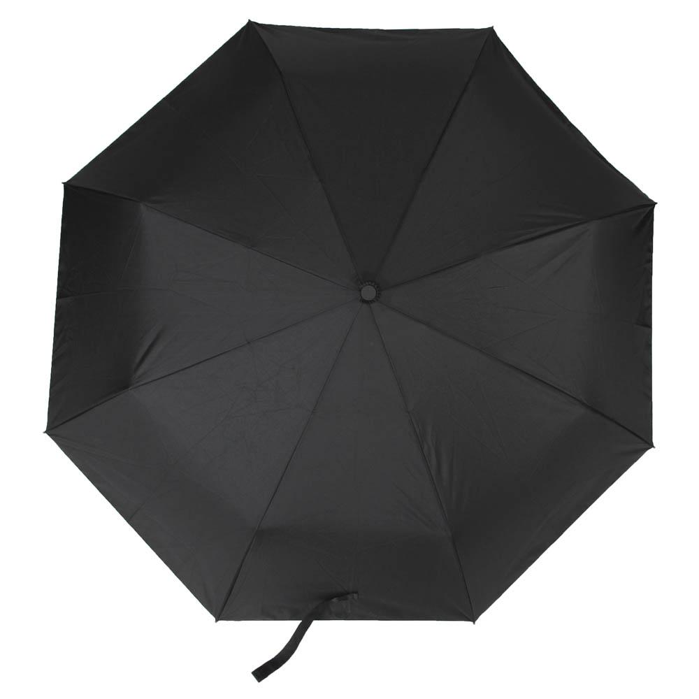 Зонт мужской, автомат, сплав, пластик, полиэстер, 55см, 8 спиц, черный