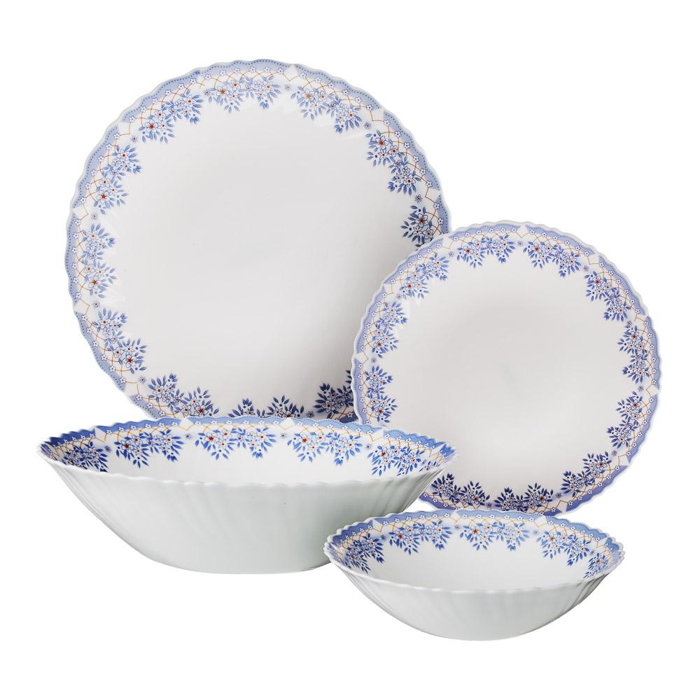 """Набор столовой посуды 19 предметов, опаловое стекло, MILLIMI """"Аполлон 2"""""""