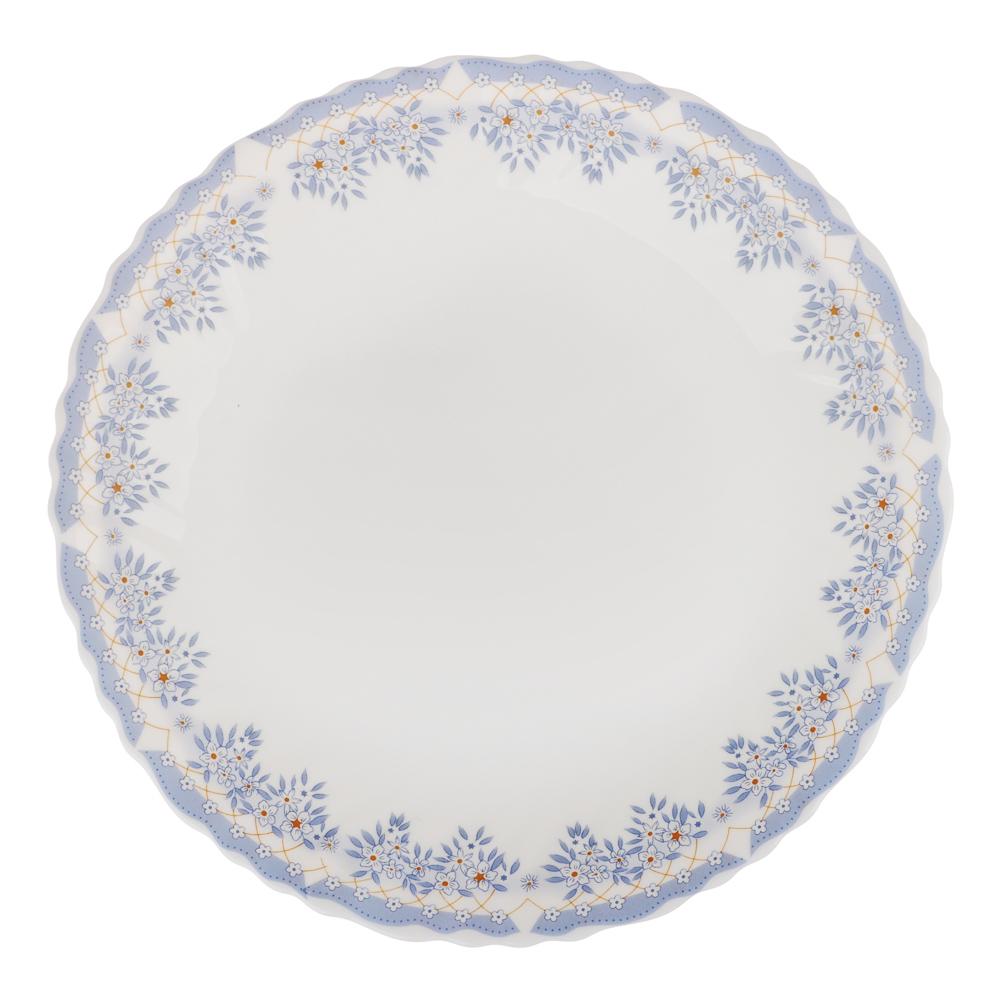 """Тарелка десертная d. 19 см, опаловое стекло, MILLIMI """"Аполлон 2"""""""