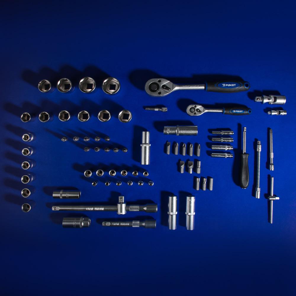 РОКОТ Набор автомобильных инструментов, 94 предмета