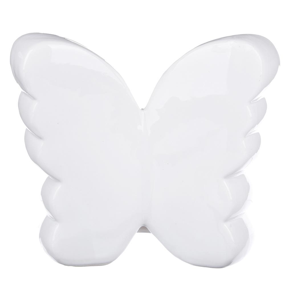 Копилка в виде бабочки с пайетками, керамическая, 15,5х7х14см