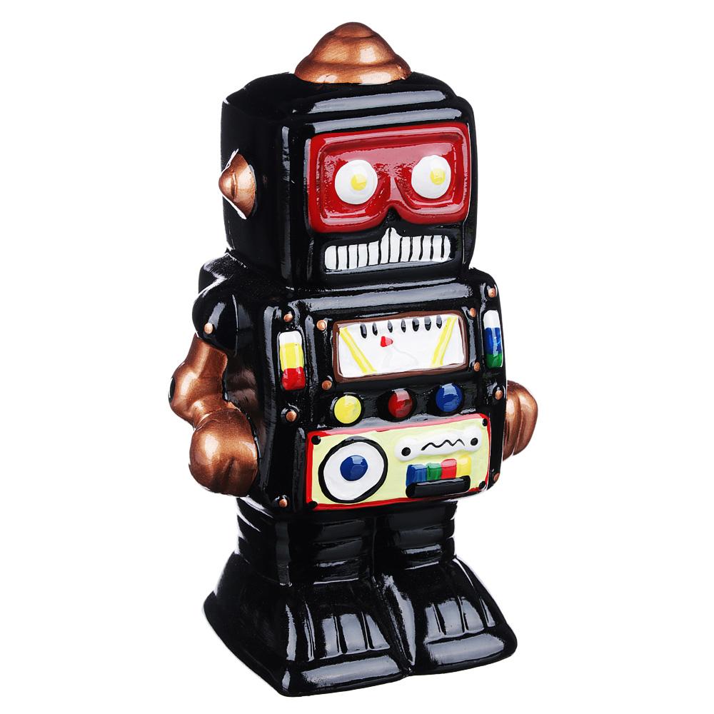 Копилка в виде робота, керамическая, 12,1х9х20,5см