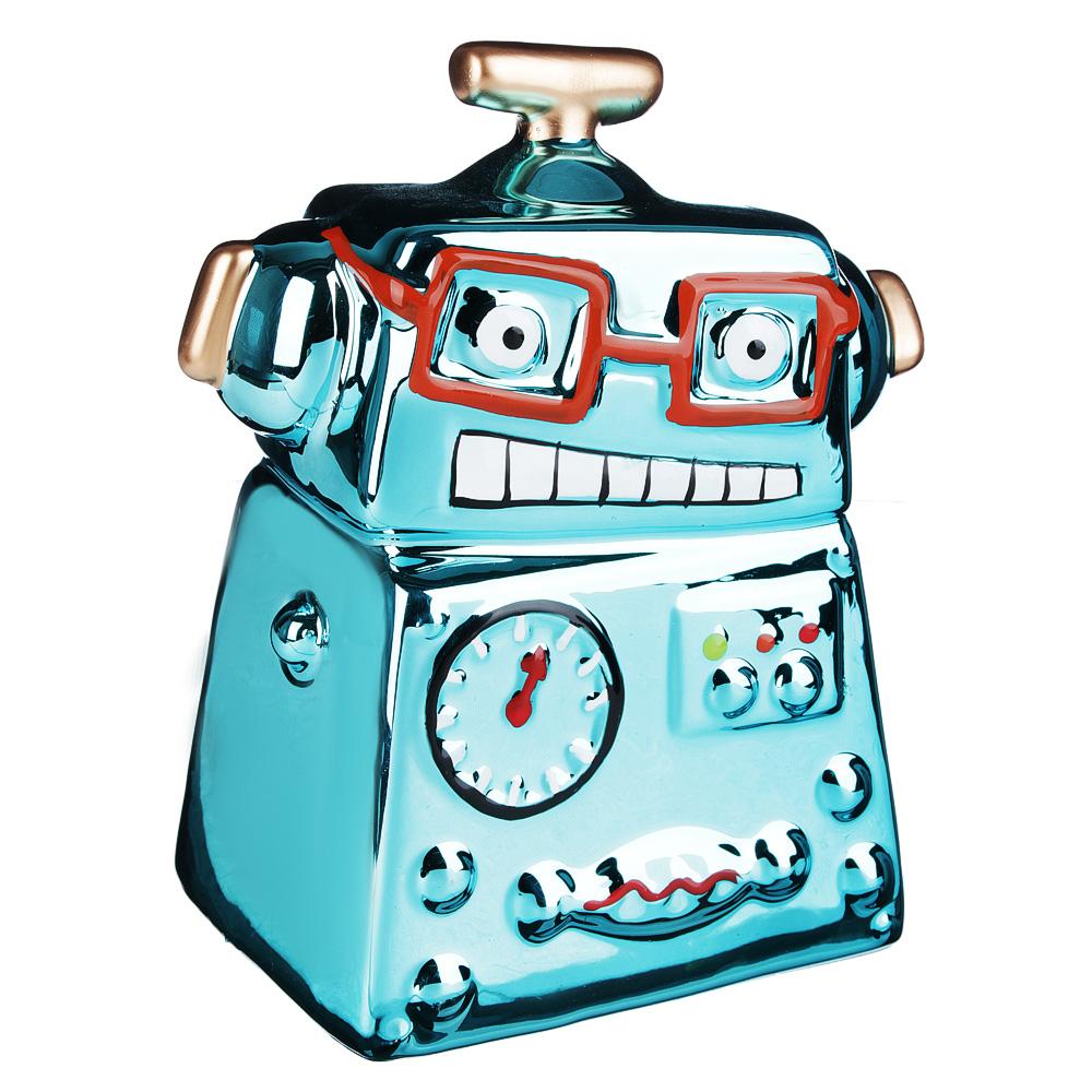 Копилка в виде робота, керамическая, 13,3х8,7х15,8см