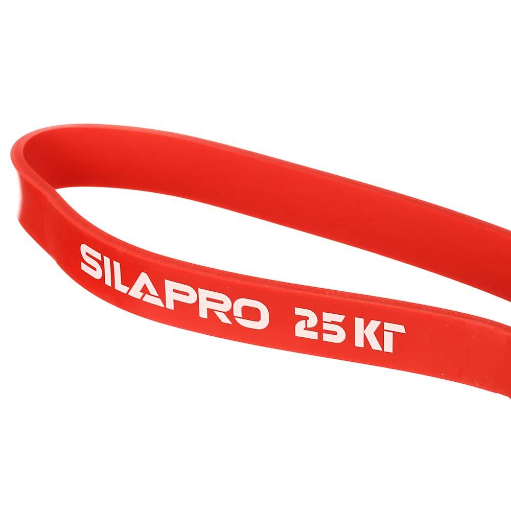 SILAPRO Силовая эластичная лента для фитнеса 208х0,45х2,2см, латекс, 25 кг