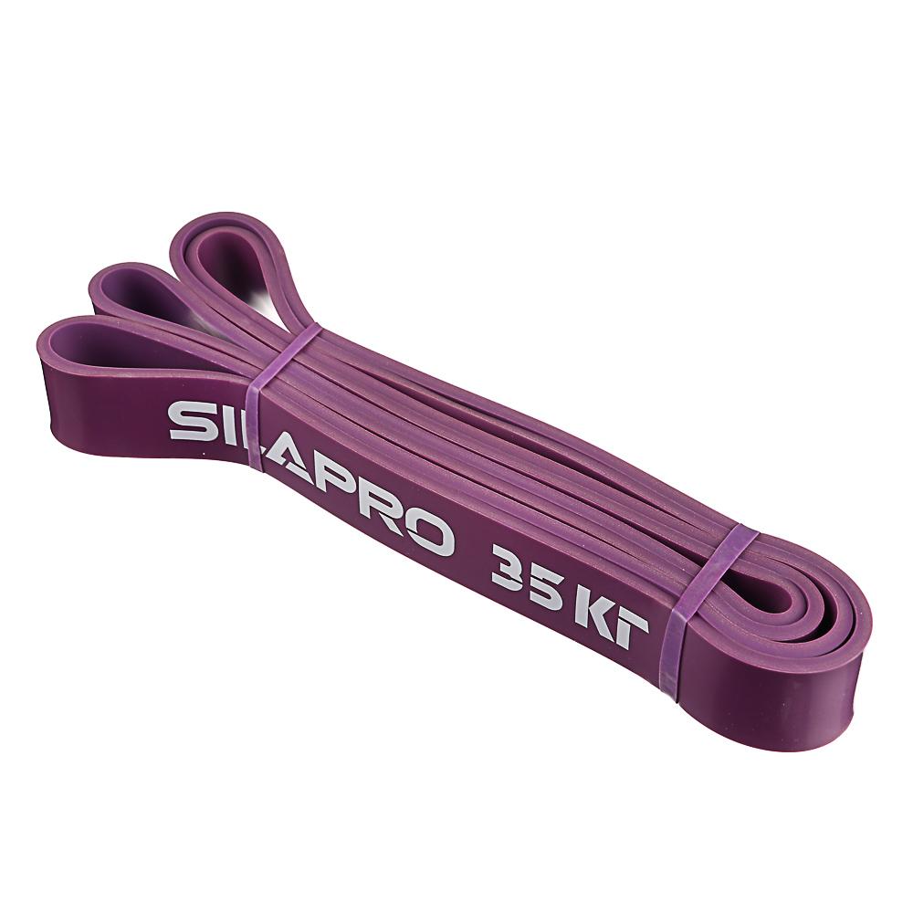 SILAPRO Силовая эластичная лента для фитнеса 208х0,45х3,2см, латекс, 35 кг