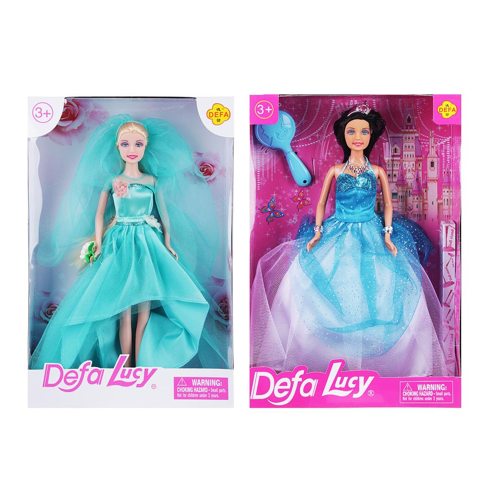 Кукла в праздничном платье, 29см, пластик, полиэстер, 2 дизайна