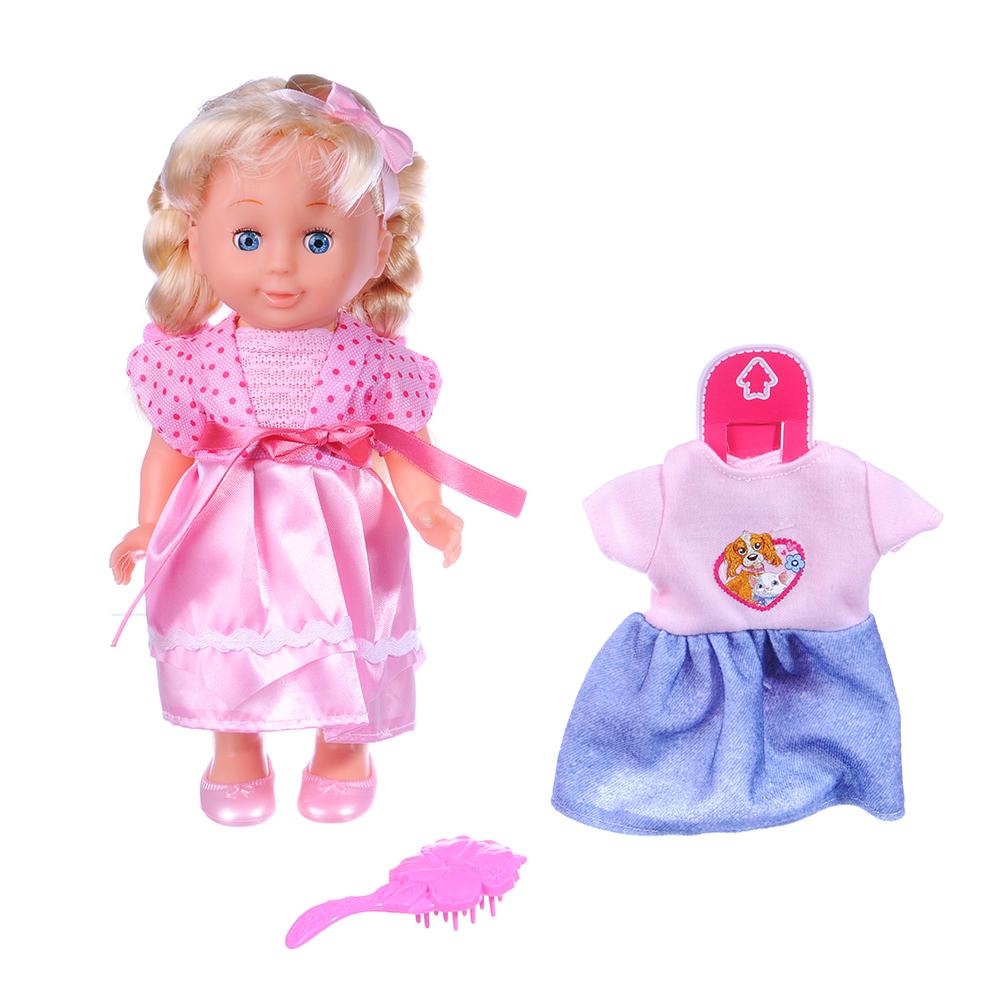 Кукла, 30см, звук: стихи и песня А. Барто, пластик, полиэстер, 3 дизайна