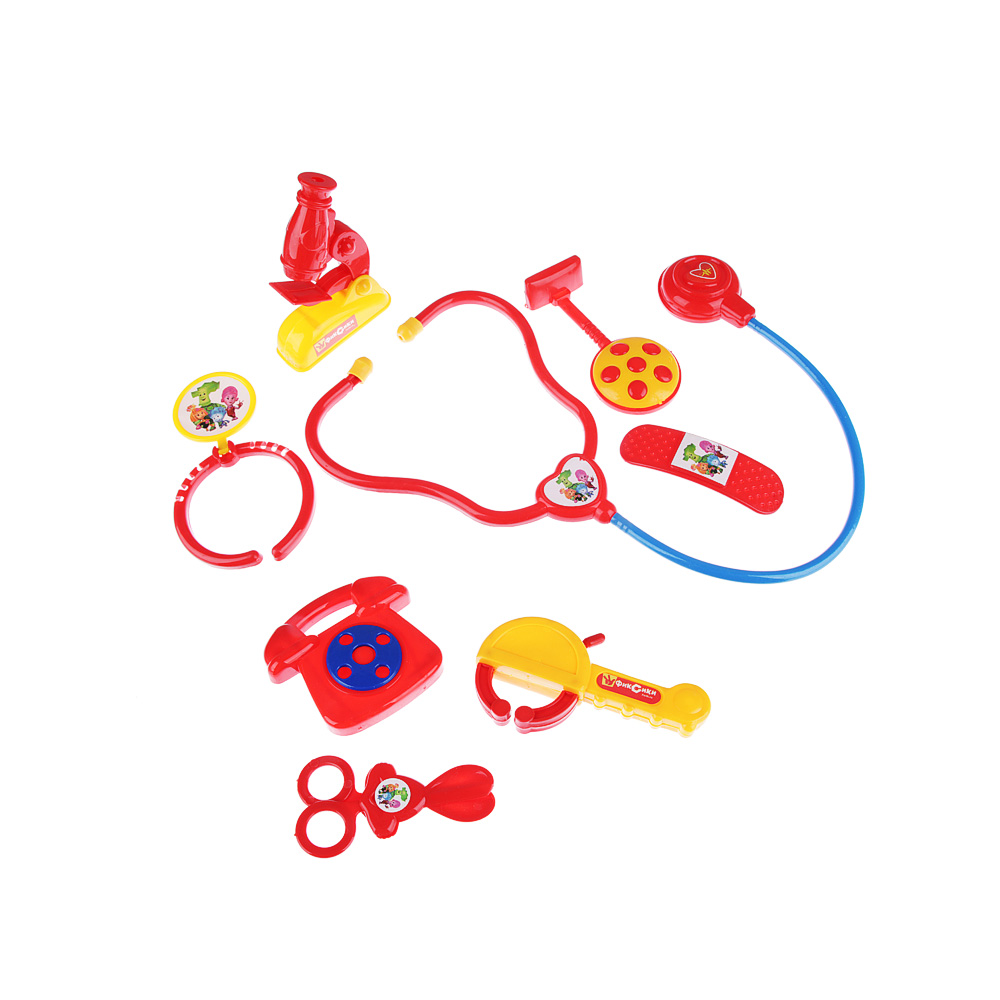 ФИКСИКИ Набор доктора в чемодане, 8 предм, пластик, 27х21х5см