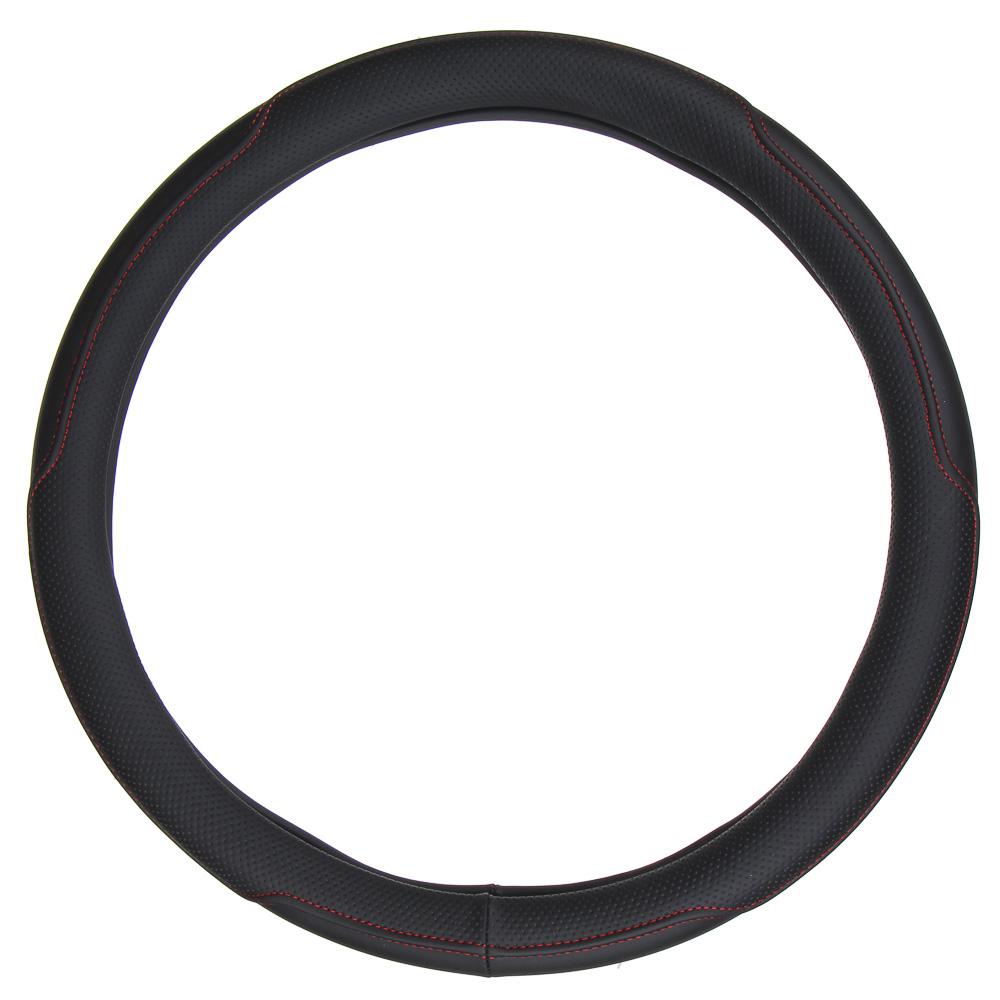 NEW GALAXY Оплетка руля, экокожа, черный, размер М
