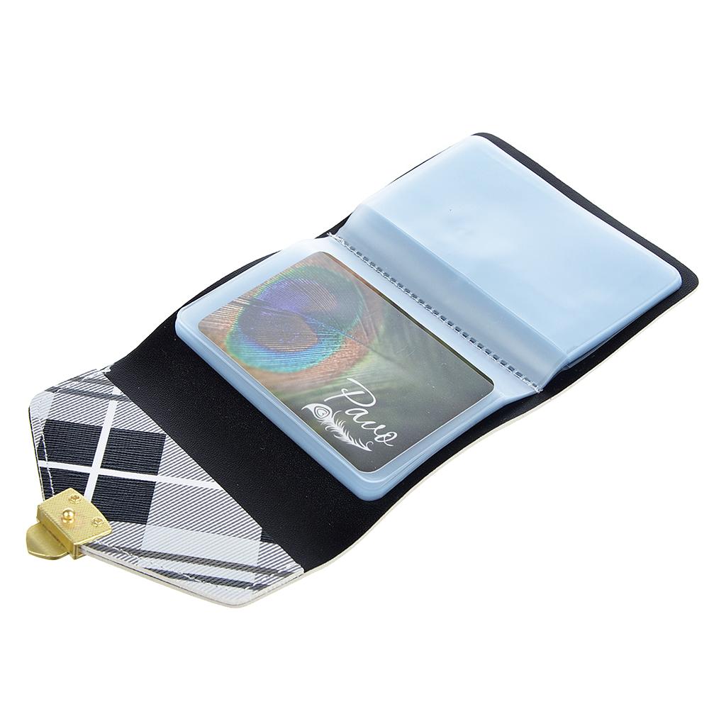 PAVO Визитница на 20 карт, ПУ, сплав, 10,5х7,5см, 3-4 цвета, ВК19-01