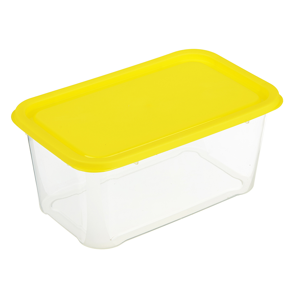 Контейнер для продуктов прямоугольный 1,2л, пластик, 3 цвета, арт.Р2049
