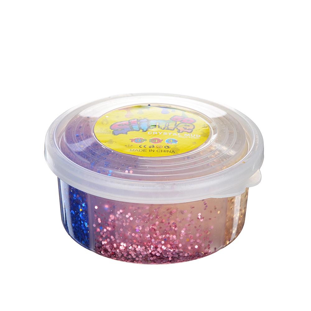 Слайм, в наборе 4 цвета, 8,5х4см, полимер, 2 дизайна, 6-8 цветов