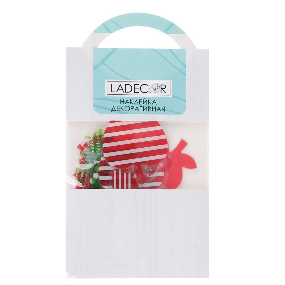 LADECOR Наклейка декоративная, объемная, 18х10,5 см, ПВХ, 6 дизайнов