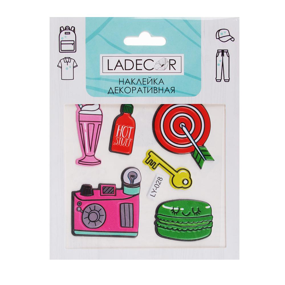 LADECOR Наклейка декоратив.для текстиля, бумаги и тверд.поверхностей,стерео эфф,15х11см,ПВХ,6 видов