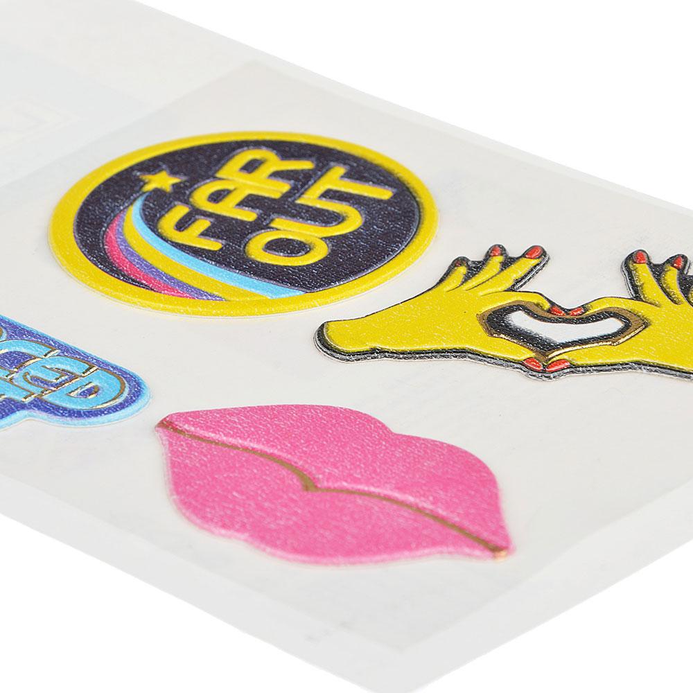 LADECOR Наклейка декор.с фольгир.слоем, д/текстиля,бумаги,тверд.поверхностей,11х16,5 см,ПВХ,6 видов