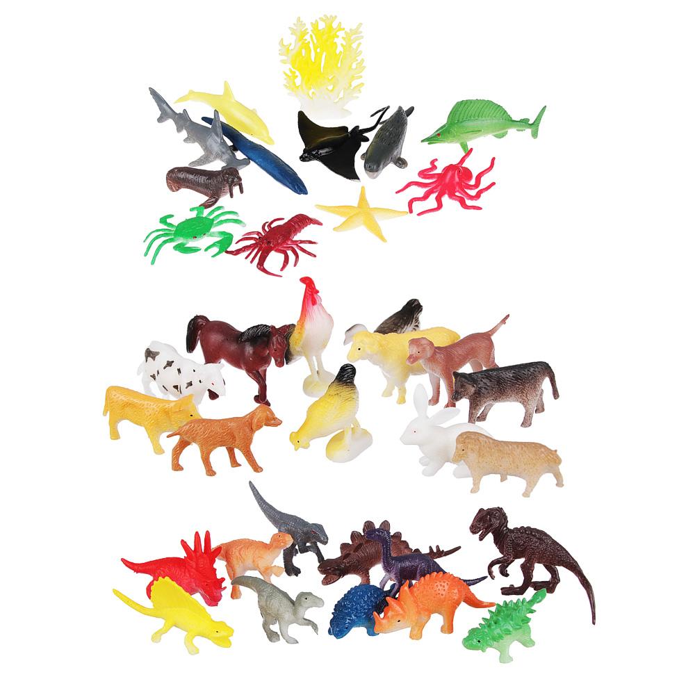 ИГРОЛЕНД Набор фигурок животных, 12шт, PVC, 12,5x17x3см, 3 дизайна