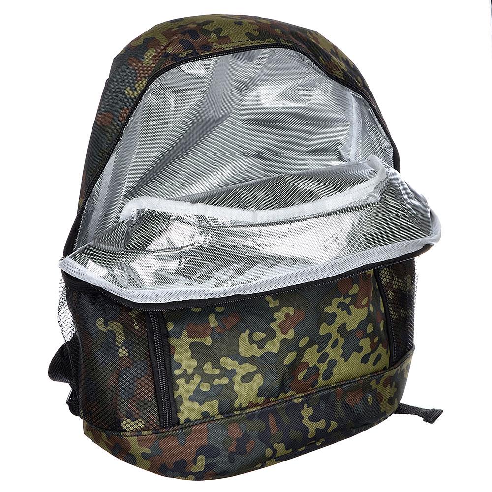 Рюкзак изотермический 20л, 600D, фольга, 30х17х40см, цвета:хаки, зеленый