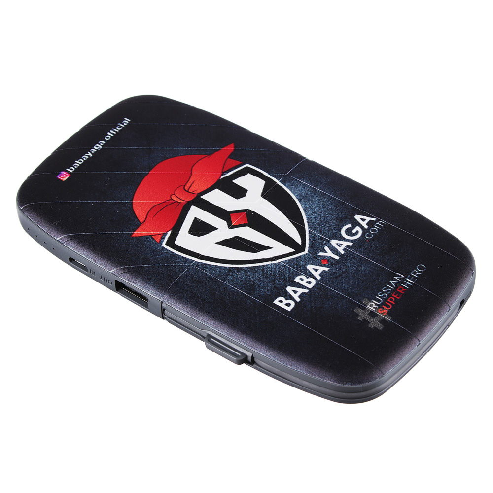 BY Аккумулятор мобильный, 10000 мАч, 2А, встроенный кабель Micro USB