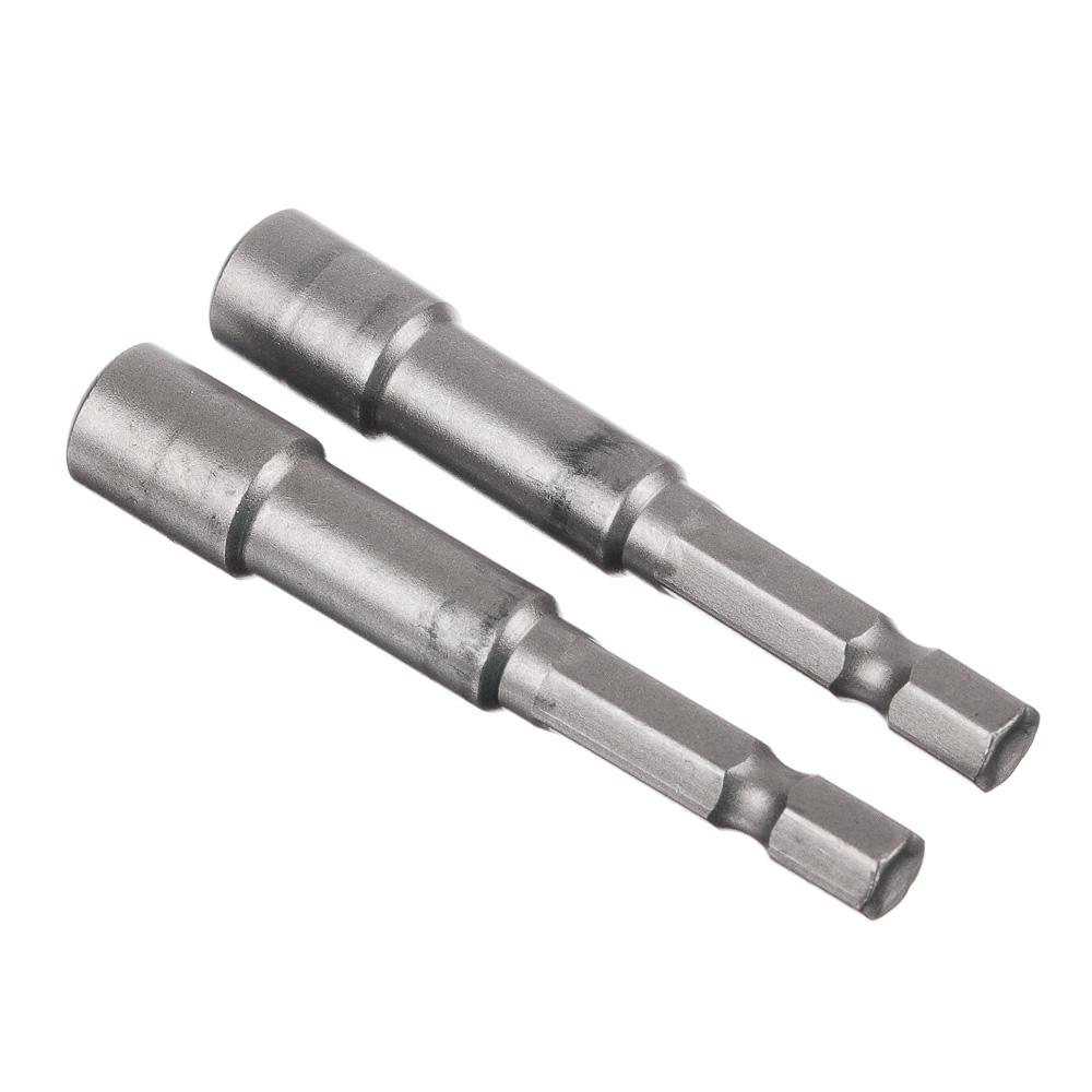 ЕРМАК Насадка магнитная для кровельных саморезов 6 мм, 2 шт(длинна 65) (Cr-V), сталь