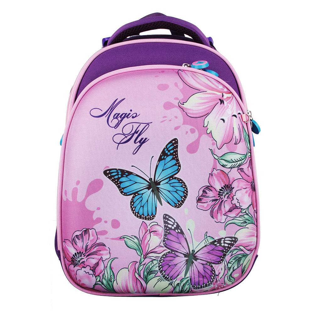 Рюкзак школьный Волшебный полет 38x30x18 см, 2 отделения, эргономичная спинка, лямки регулируемые
