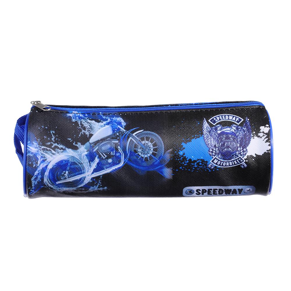 Спидвей Пенал мягкий круглый, 21х7х7см, ПВХ 0,8мм, с ручкой, с антисминаемым вкладышем